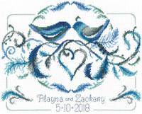 Love Bird Wedding Cross Stitch Chart