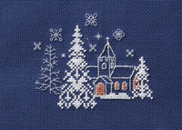 Christmas Card – Let it Snow Cross Stitch Card