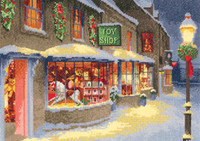 Christmas Toy Shop Cross Stitch Kit By Heritage