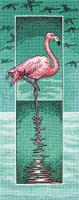 Flamingo Cross Stitch Kit By Heritage Crafts