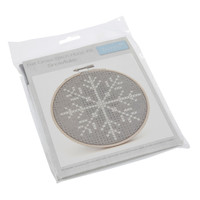 Cross Stitch Kit with Hoop: Snowflake