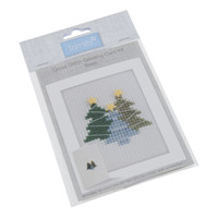 Cross Stitch Kit: Card: Trees