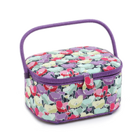 Spring Flowers  Large Oval Sewing Box By Hobby Gift