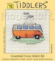 Orange Camper Van Cross Stitch Kit by Mouse Loft