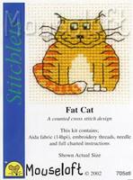 Fat Cat Cross Stitch Kit by Mouse Loft