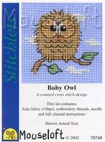 Baby Owl Cross Stitch Kit by Mouse Loft