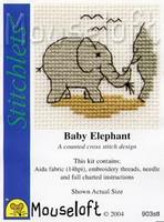 Baby Elephant Cross Stitch Kit by Mouse Loft