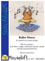 Ballet Mouse Cross Stitch Kit by Mouse Loft