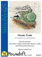 Steam Train Cross Stitch Kit by Mouse Loft