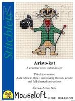 Aristo-kat Cross Stitch Kit by Mouse Loft