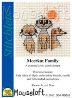 Meerkat Family Cross Stitch Kit by Mouse Loft