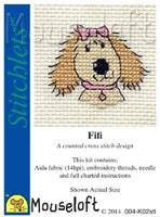 Fifi The Dog Cross Stitch Kit by Mouse Loft