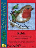 Robin Cross Stitch Kit by Mouse Loft