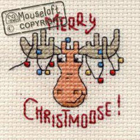 Merry Christmoose Cross Stitch Kit by Mouse Loft