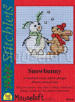Snowbunny Cross Stitch Kit by Mouse Loft