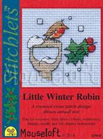 Little Winter Robin Cross Stitch Kit by Mouse Loft