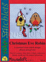 Christmas Eve Robin Cross Stitch Kit by Mouse Loft