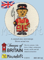Beefeater Teddy Cross Stitch Kit by Mouse Loft