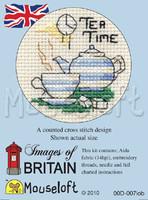 Tea Time Cross Stitch Kit by Mouse Loft