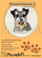 Miniature Schnauzer Cross Stitch Kit by Mouse Loft