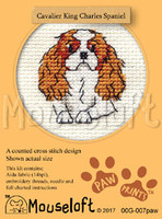 Cavalier King Charles Spaniel Cross Stitch Kit by Mouse Loft
