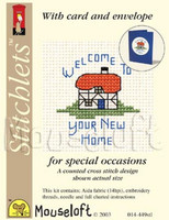 New Home Cross Stitch Kit by Mouse Loft