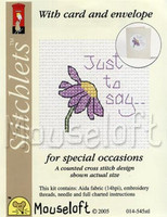 Just To Say Cross Stitch Kit by Mouse Loft