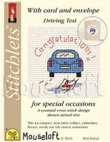 Driving Test Congrats Cross Stitch Kit by Mouse Loft