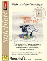 Happy Easter Lamb Cross Stitch Kit by Mouse Loft