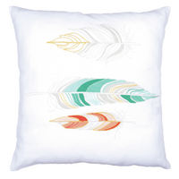 Embroidery Kit: Cushion: Feathers By Vervaco