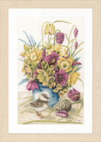 Counted Cross Stitch Kit: Flowers & Lapwing