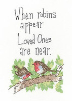 'When Robins Appear' Cross Stitch Kit By Heritage