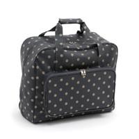 Charcoal Polka Dot  Sewing Machine Bag By Hobby Gift