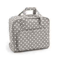 Grey Linen Polka Dot  Sewing Machine Bag By Hobby Gift