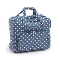 Denim Polka Dot Sewing Machine Bag By Hobby Gift