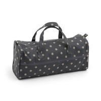 Charcoal Polka Dot  Knit Bag By Hobby Gift