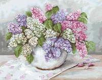 Lilacs Petit Point Cross Stitch Kit By Luca S