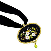 White Rose Pendant Embroidery Craft Kit By Riolis