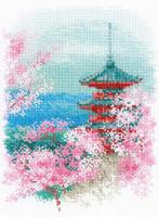 Sakura - Pagoda Cross Stitch Kit By Riolis