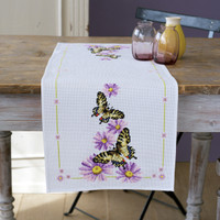 Runner Butterflies Cross Stitch Kit By Vervaco