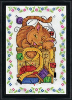 Sewing Cat Cross Stitch Kit By Design Works