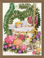 Teacup Fairy Cross Stitch Kit By Design Works