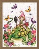 Turtle & Fairy Cross Stitch Kit By Design Works