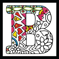 Zenbroidery - Letter B EMBROIDERY KIT By Design Works