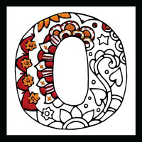 Zenbroidery - Letter O EMBROIDERY KIT By Design Works