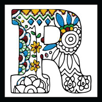 Zenbroidery - Letter R EMBROIDERY KIT By Design Works