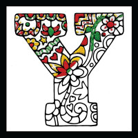 Zenbroidery - Letter Y EMBROIDERY KIT By Design Works