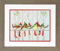 Counted Cross Stitch Kit: Winter Gathering By Dimensions