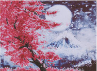 Cherry Blossom Mountain Craft Kit by Diamand Dotz