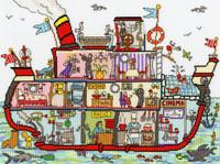 Cut Thru' Cruise Ship Cross Stitch Kit By Bothy Threads